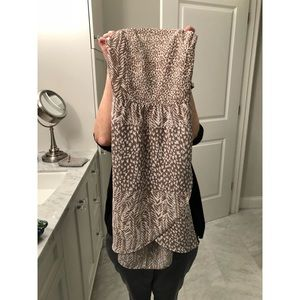 Animal print strapless never worn dress with tags